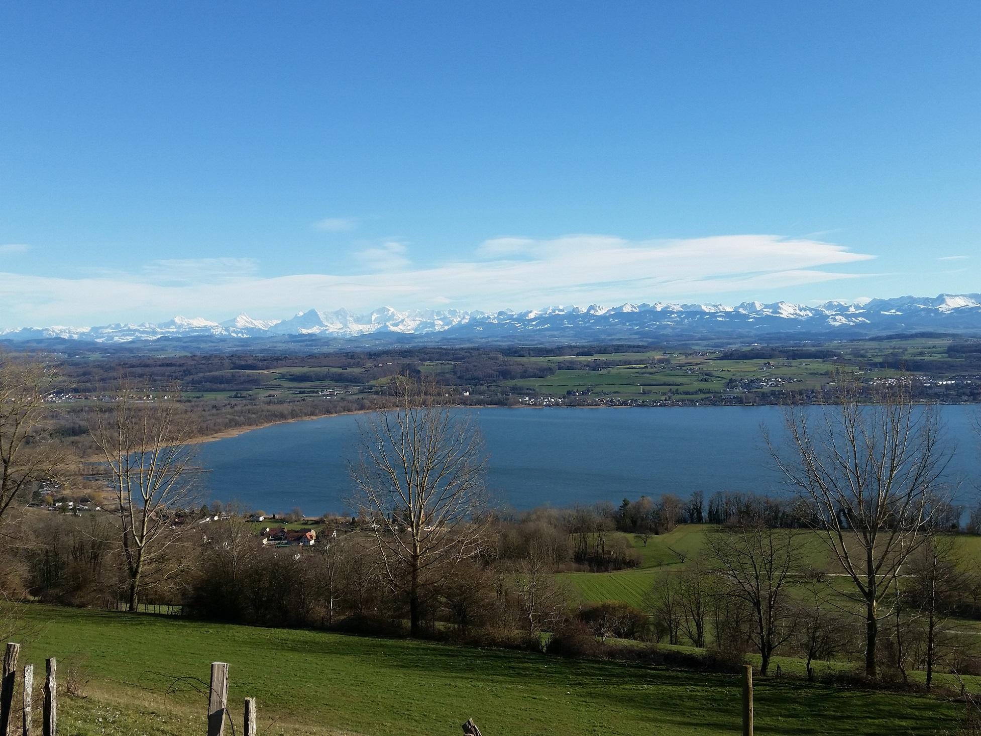 Aussicht vom Mont Vully Richtung Süden