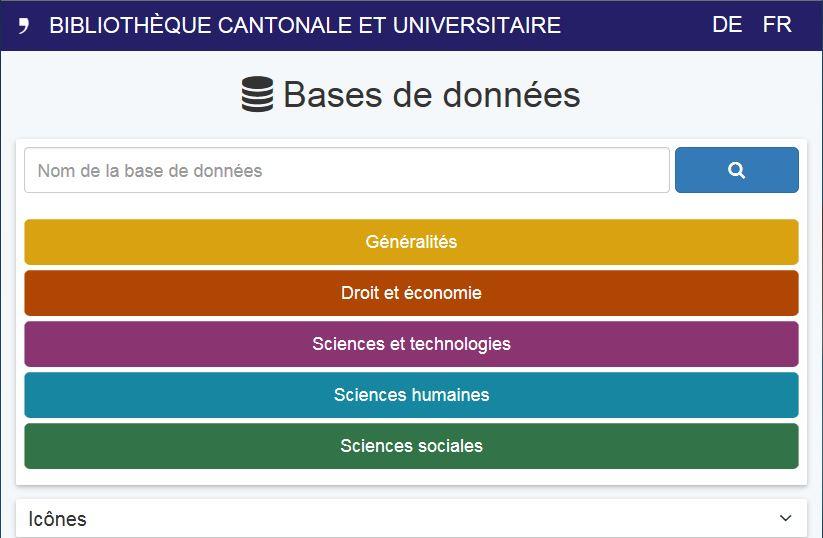 Ressources électroniques, Bibliothèque cantonale et universitaire Fribourg
