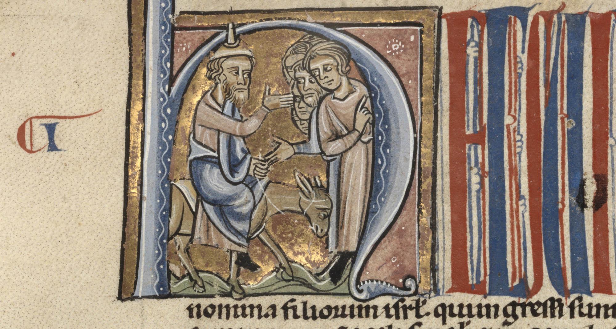 Bible, XIIIe siècle. BCU, ms. L 71, f. 16ra. Bibliothèque cantonale et universitaire Fribourg.