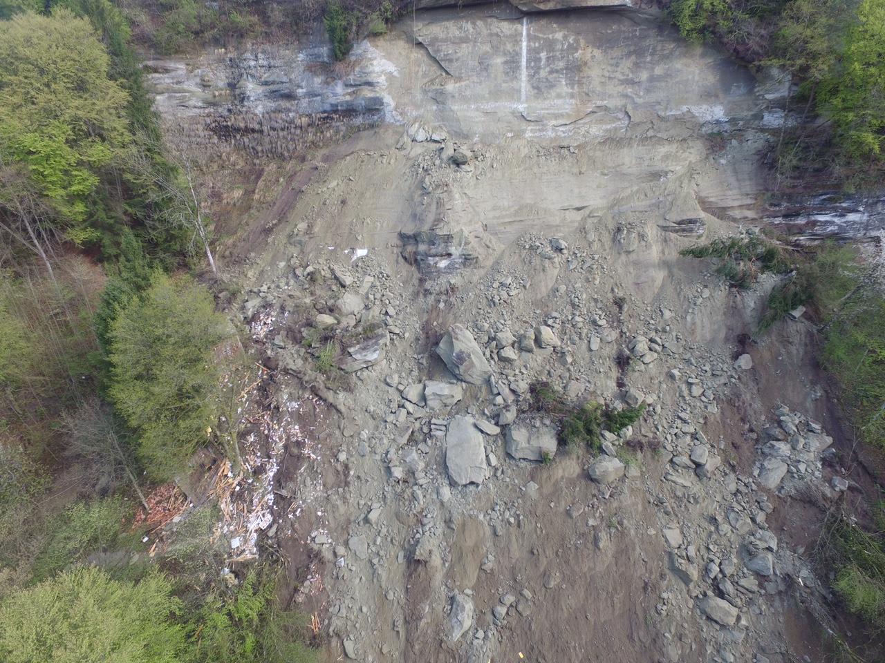 Effondrement de falaise - Vallée du Gottéron