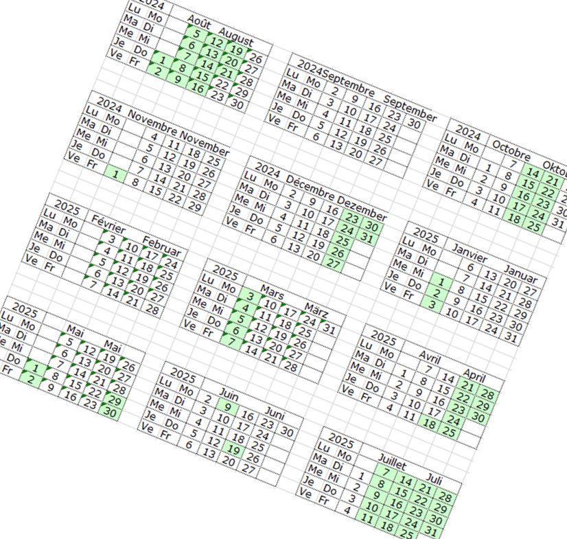 Illustration Kalender