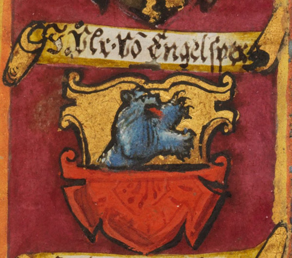 Armoiries d'Engelsberg (détail du Katharinenbuch)