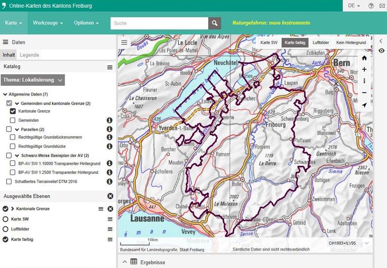 Freiburg Karte.Online Karten Map Geo Fr Ch Offizielle Website Des Staates