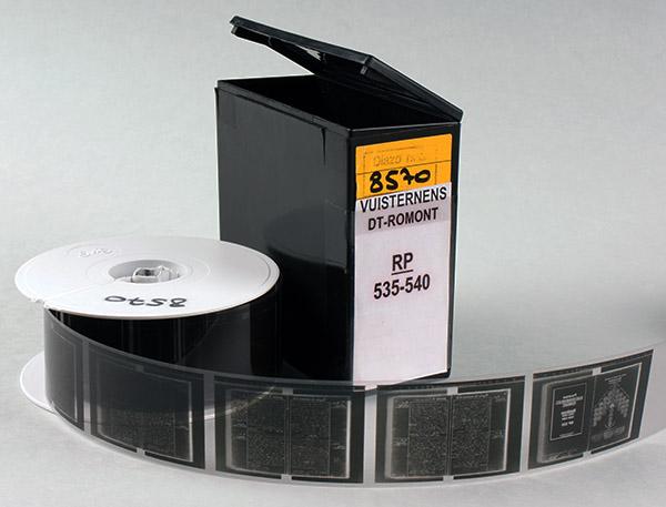 Les registres de paroisse sur microfilm