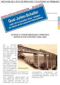 Edition spéciale : Le train à vapeur débarque à Fribourg - Génèse d'une aventure (1845-1862)