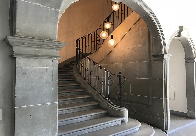 Intérieur du bâtiment du Service des communes