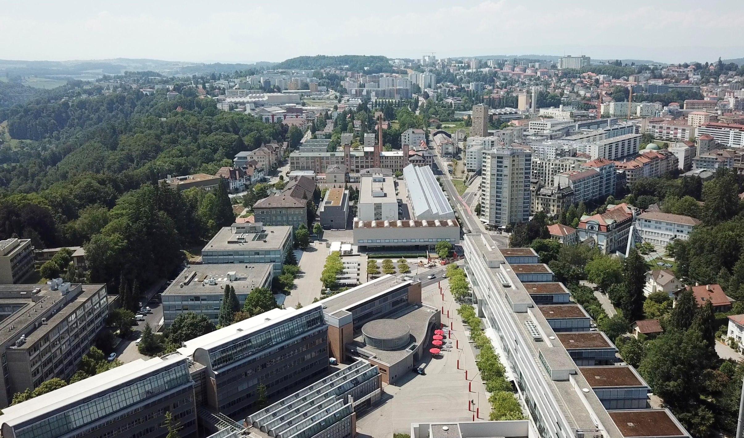 Le plateau de Pérolles à Fribourg