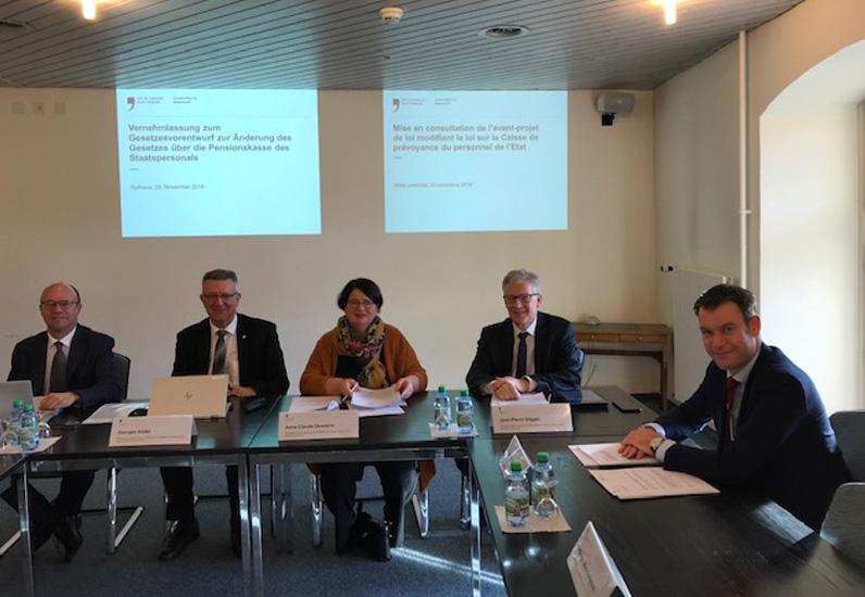 Conférence de presse sur la réforme de la Caisse de prévoyance
