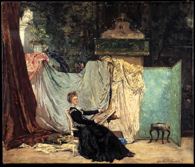 Georges Clairin, Marcello dans son atelier, 1871