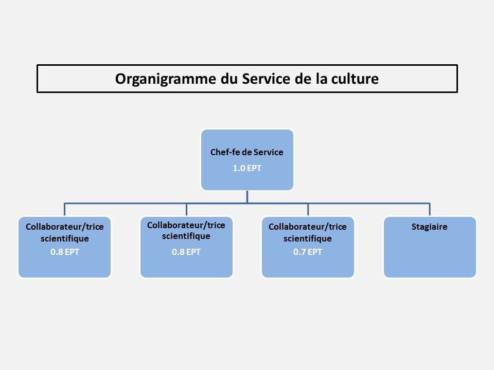 Organigramme du Service de la culture
