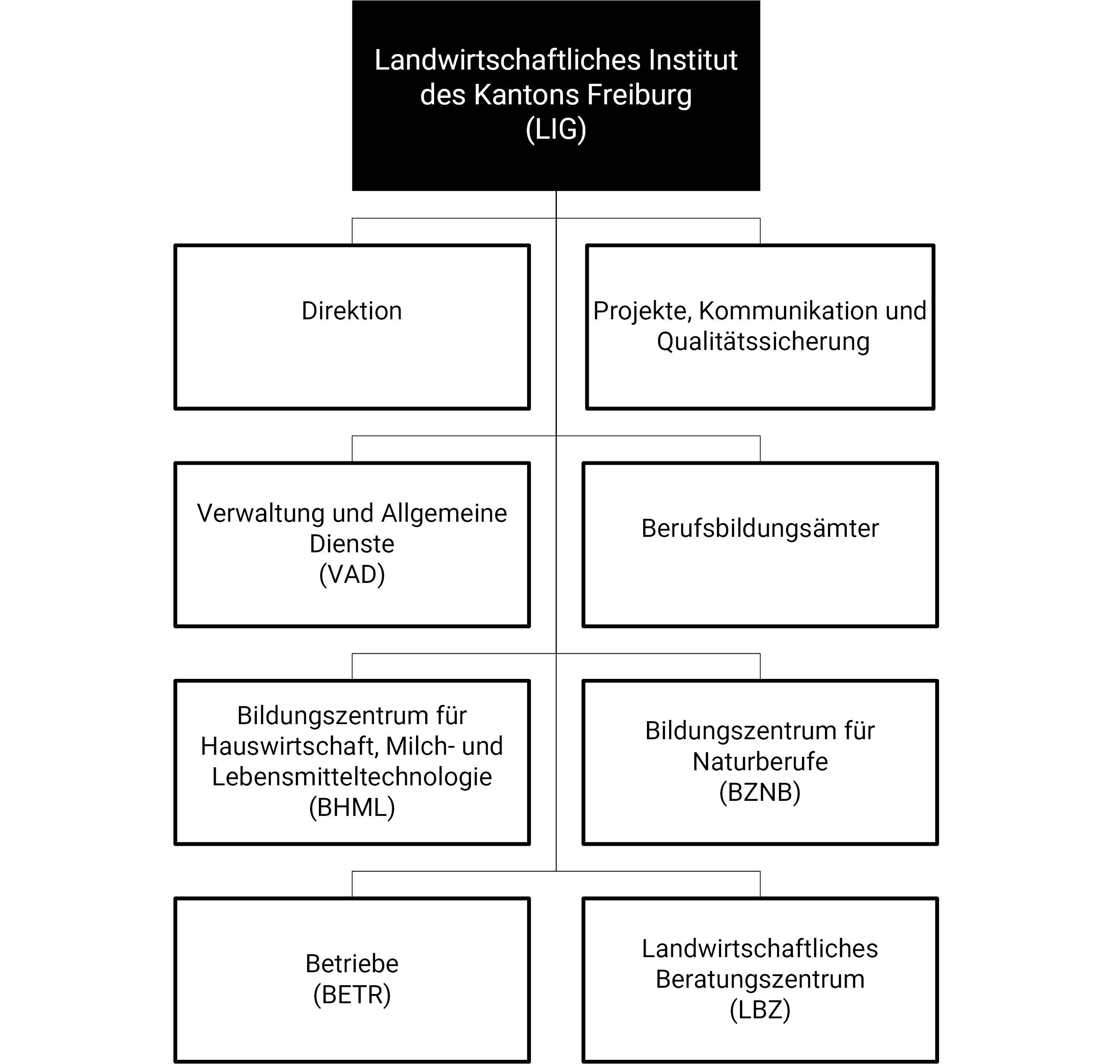 vereinfachtes Organigramm Grangeneuve