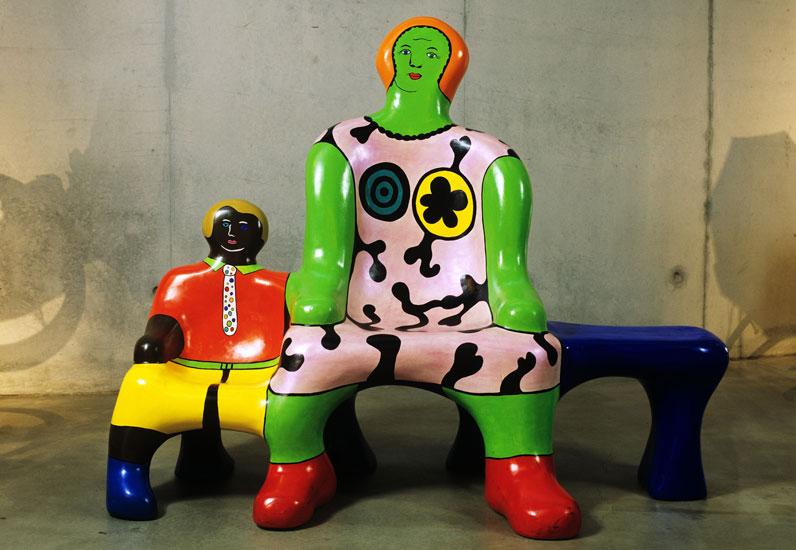 Banc des générations, Niki de Saint Phalle, 1997-1998