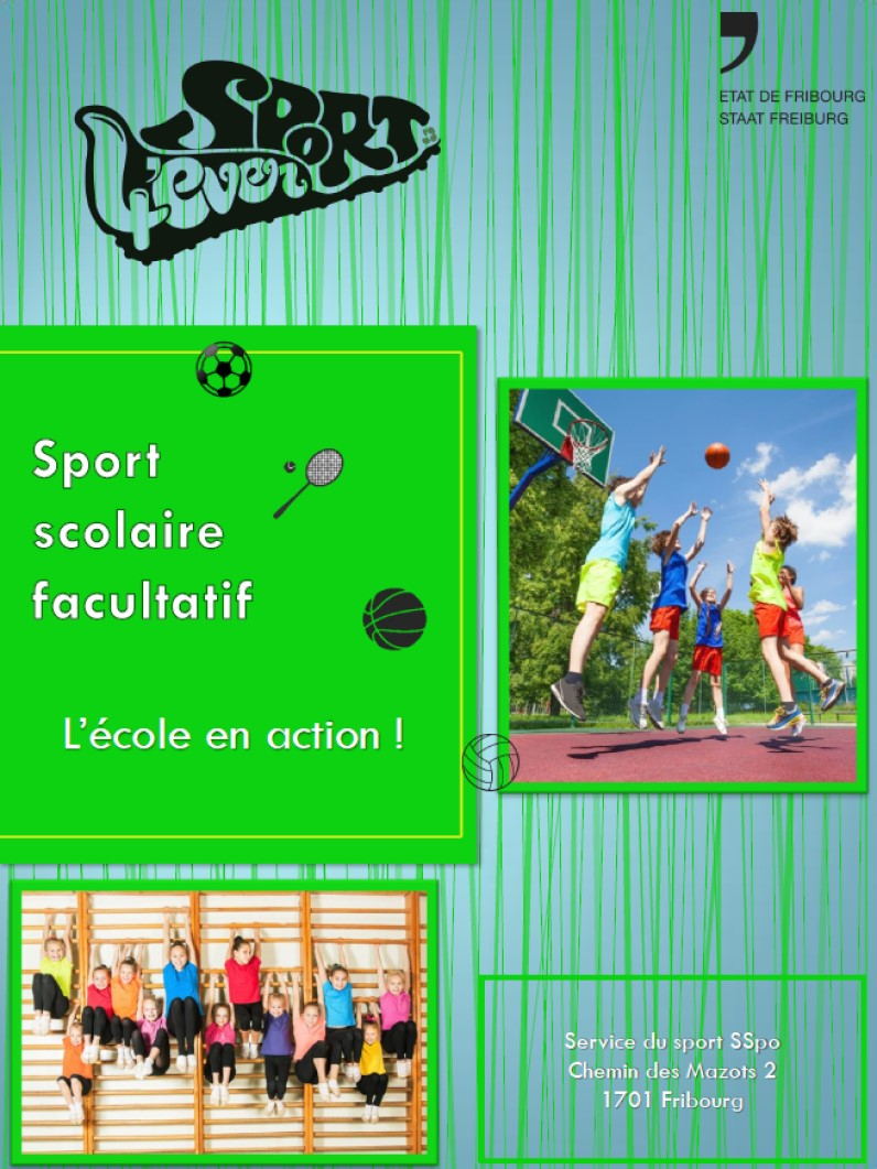 Affiche sport scolaire facultatif