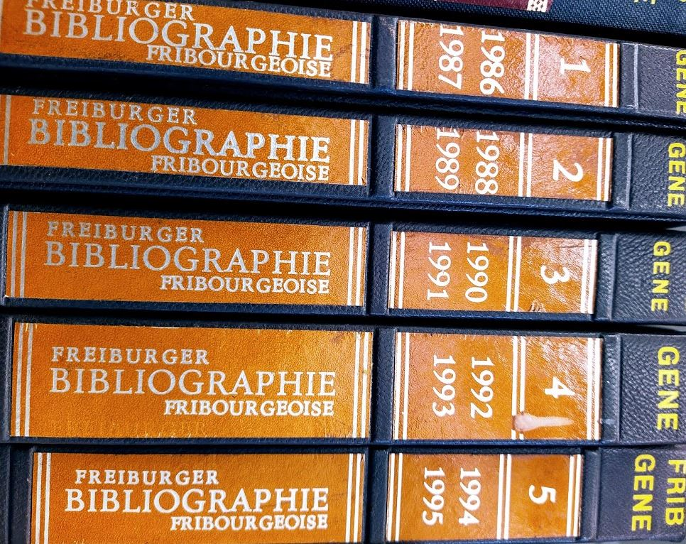Bibliographie fribourgeoise