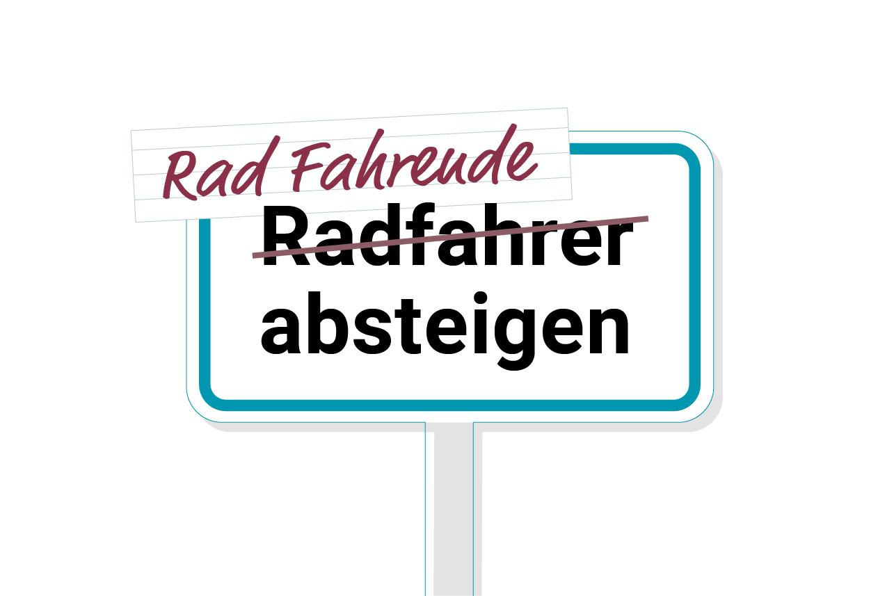 Rad_Fahrende_absteigen_Sprachliche_Gleichbehandlung