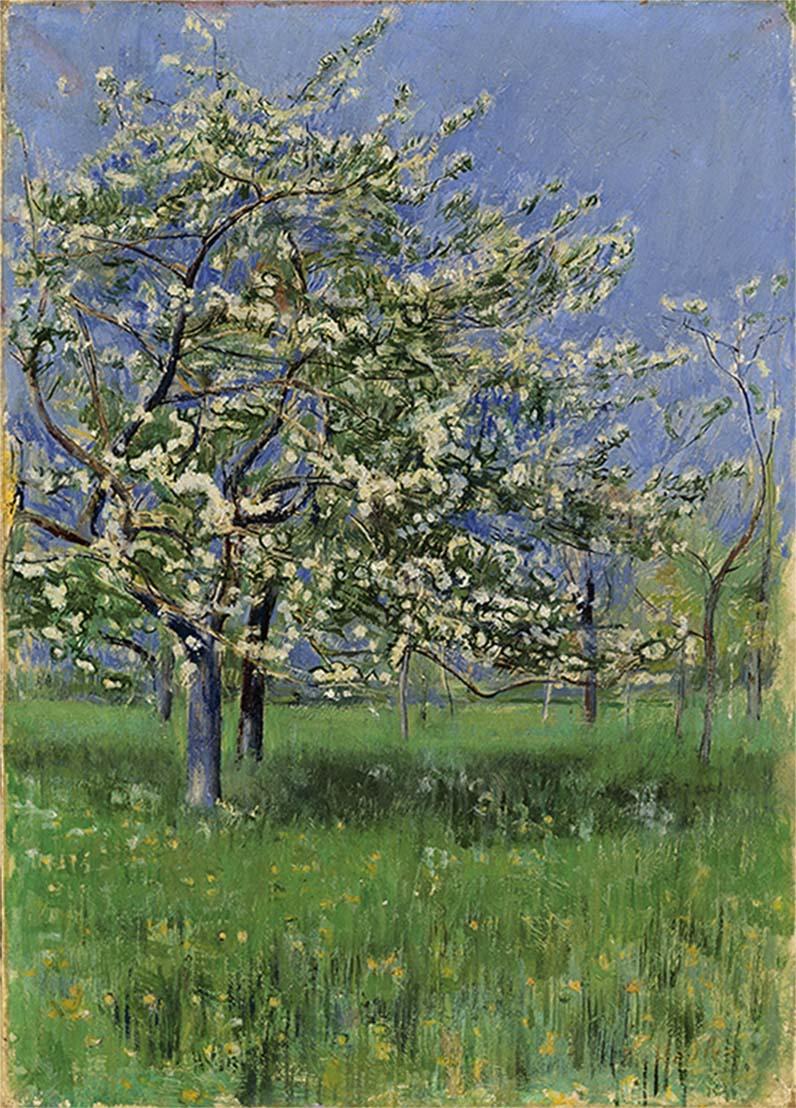 Ferdinand Hodler, L'arbre fleuri, vers 1899