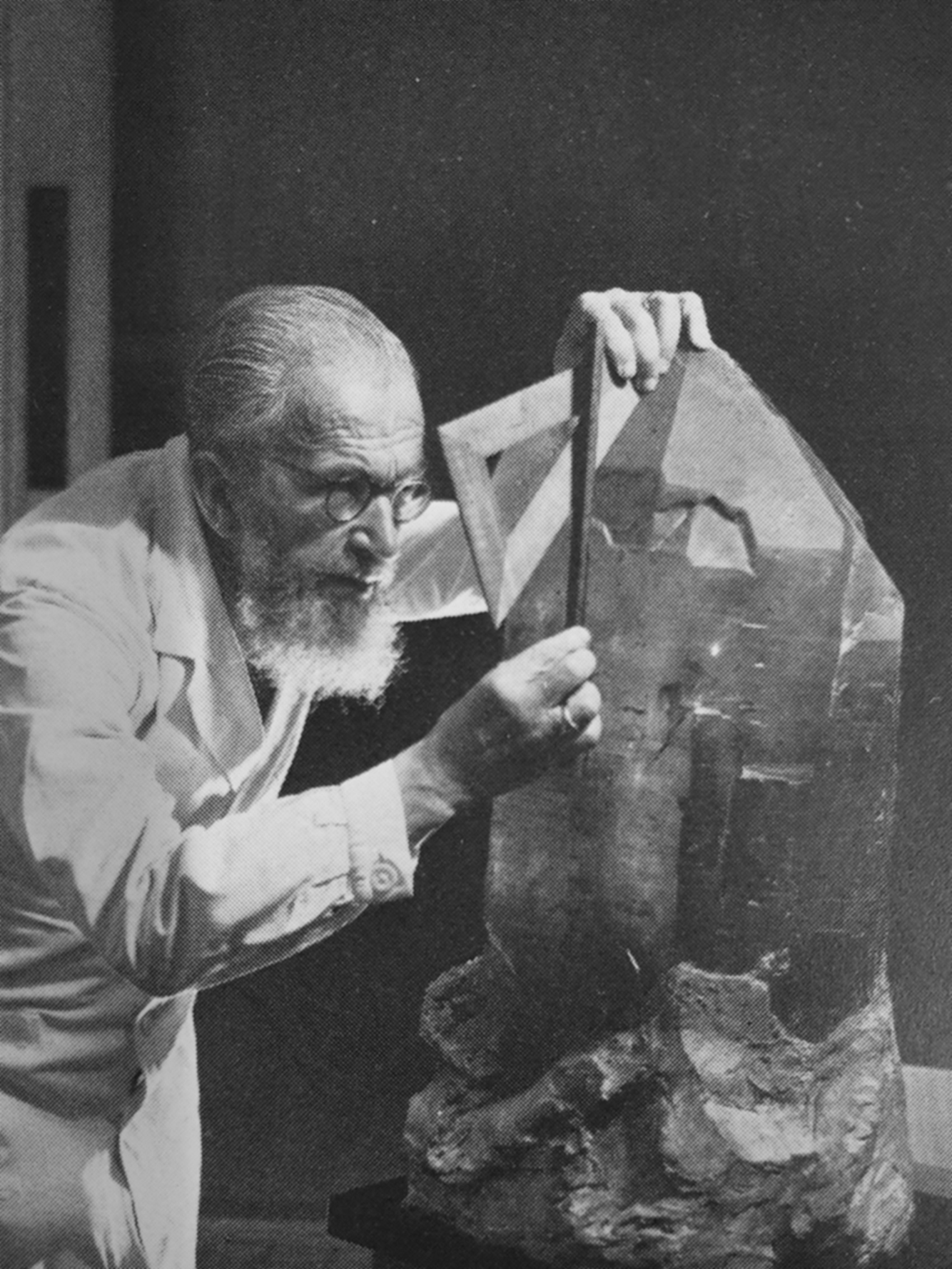 Prof. Dr. Leonhard Weber (1883-1968), Professor für Mineralogie 1925-1955, Rektor der Universität Freiburg 1941-42