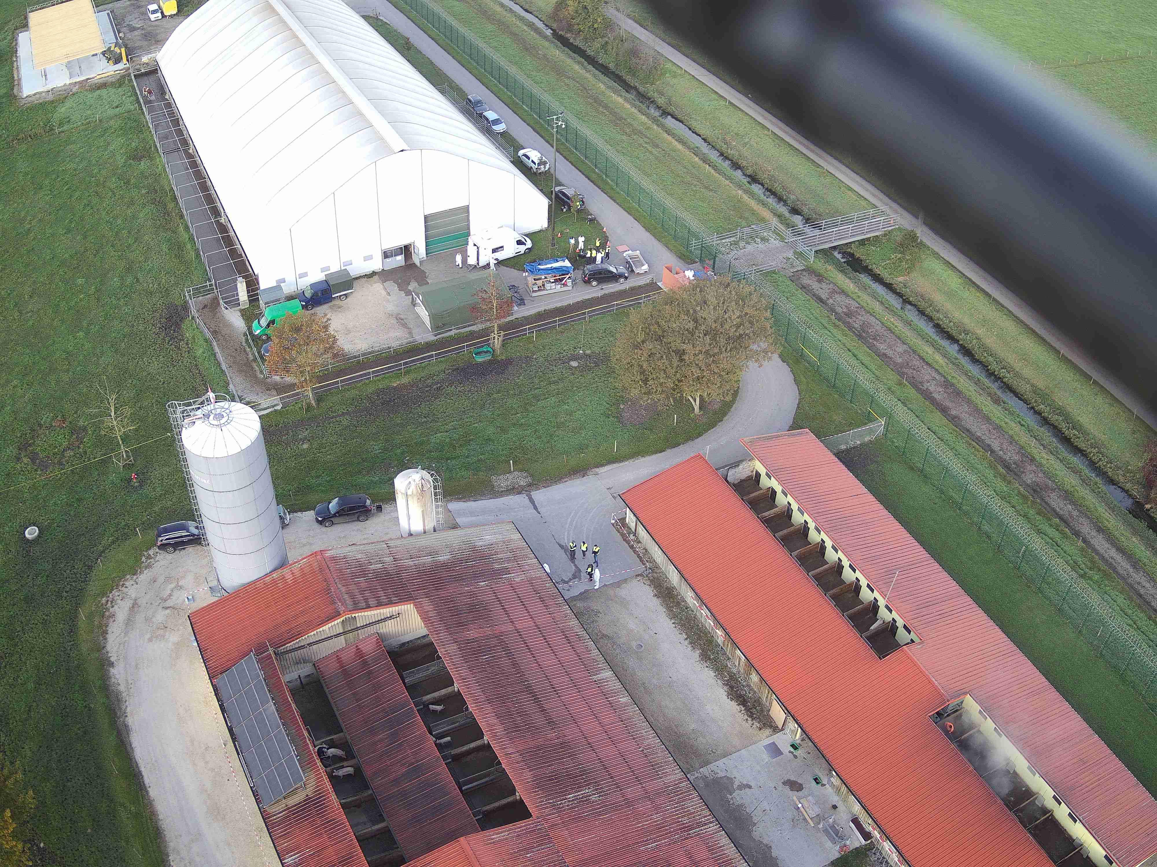 La caméra du drone, vue sur site