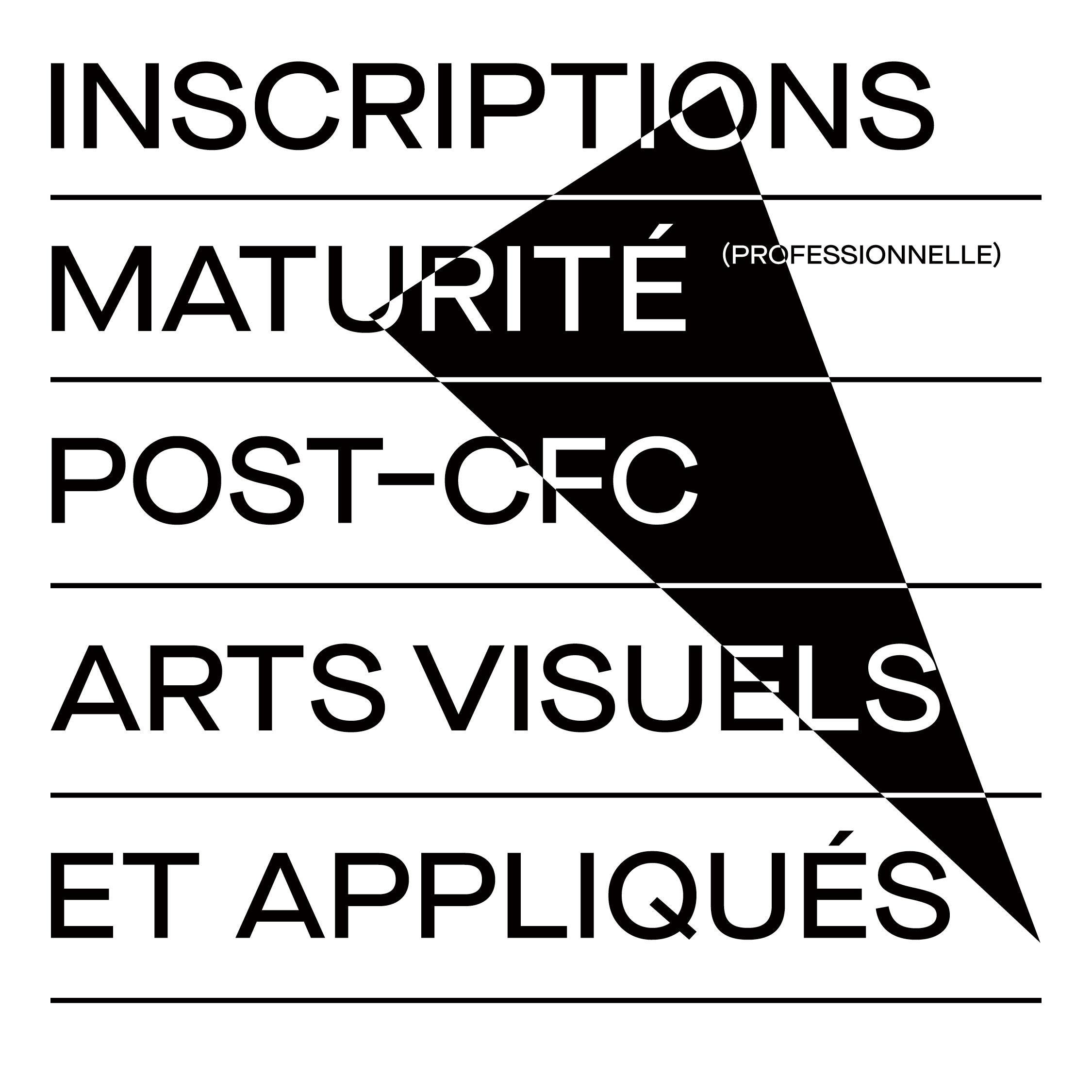 Inscriptions maturité post-CFC (MP2) eikon