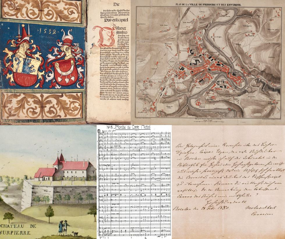 Handschriften, Inkunabeln und Archivalien der Kantons- und Universitätsbibliothek Freiburg