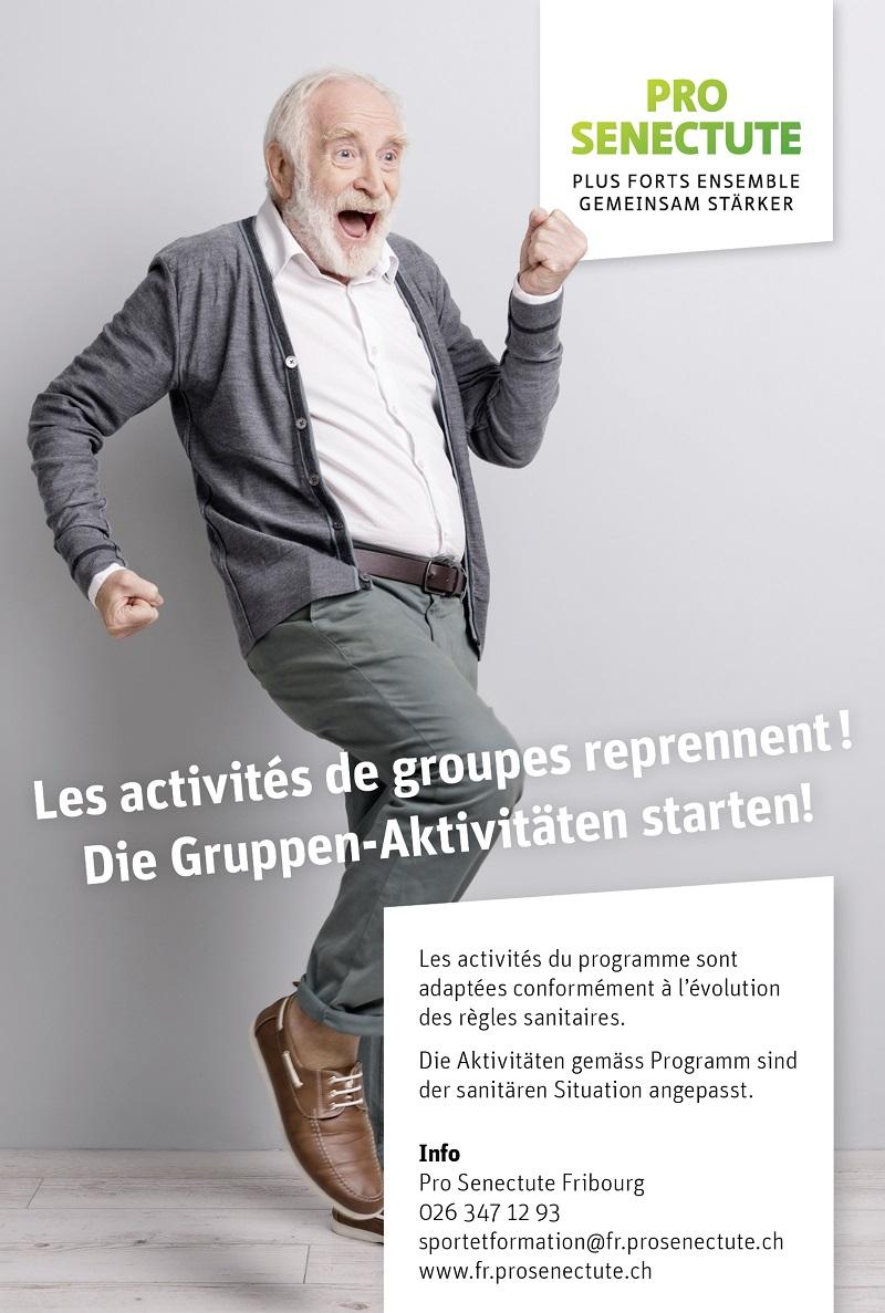 Pro Senectute: les activités de groupes reprennent!