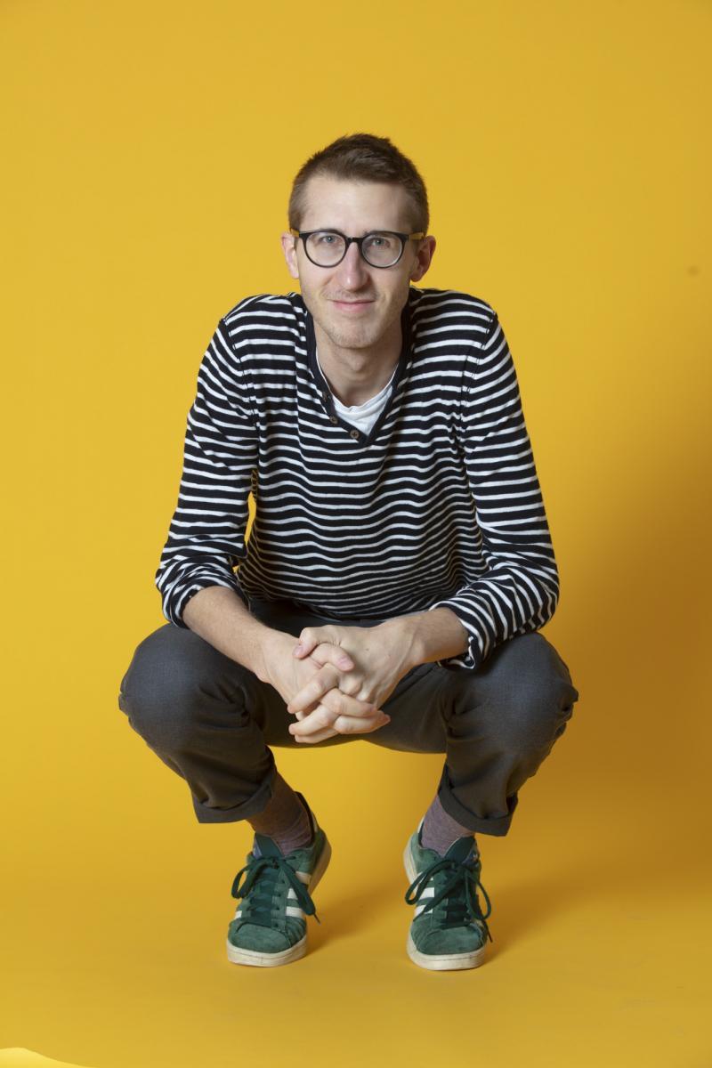 Matthieu Corpataux, lauréat de la bourse d'encouragement à la création littéraire