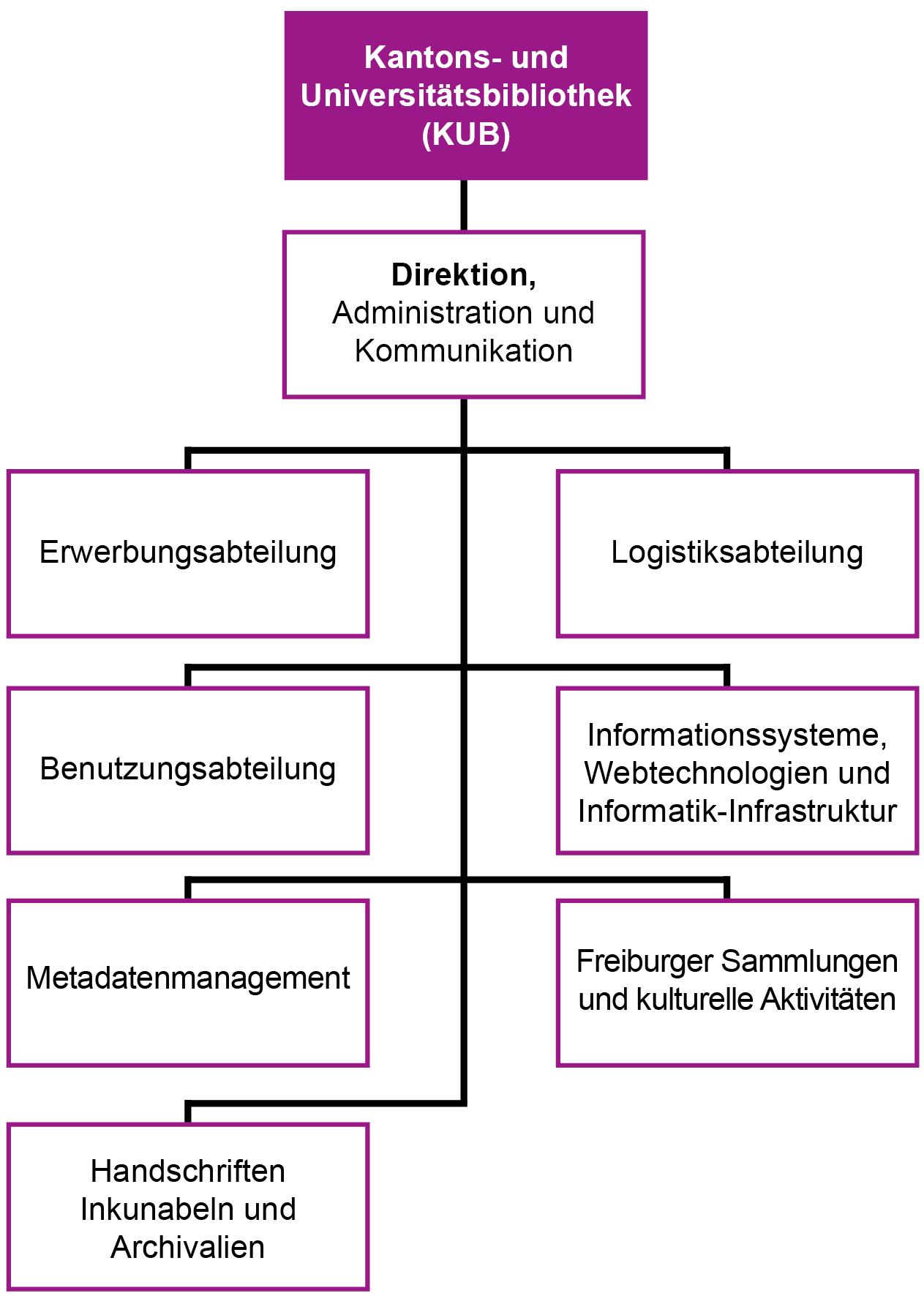 KUB Freiburg - Organigramm