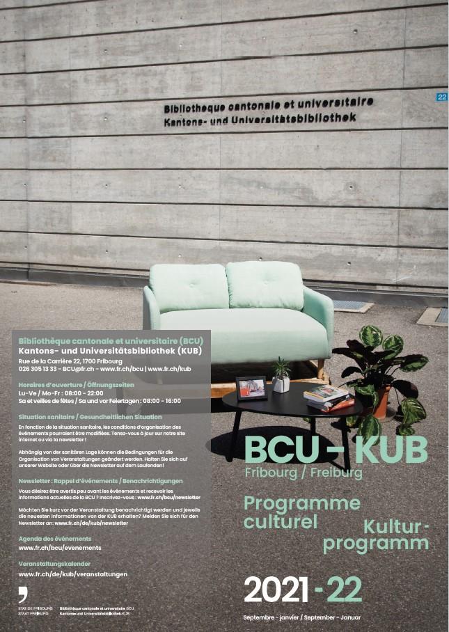 BCU Fribourg Programme d'événements, automne/hiver 2021/22