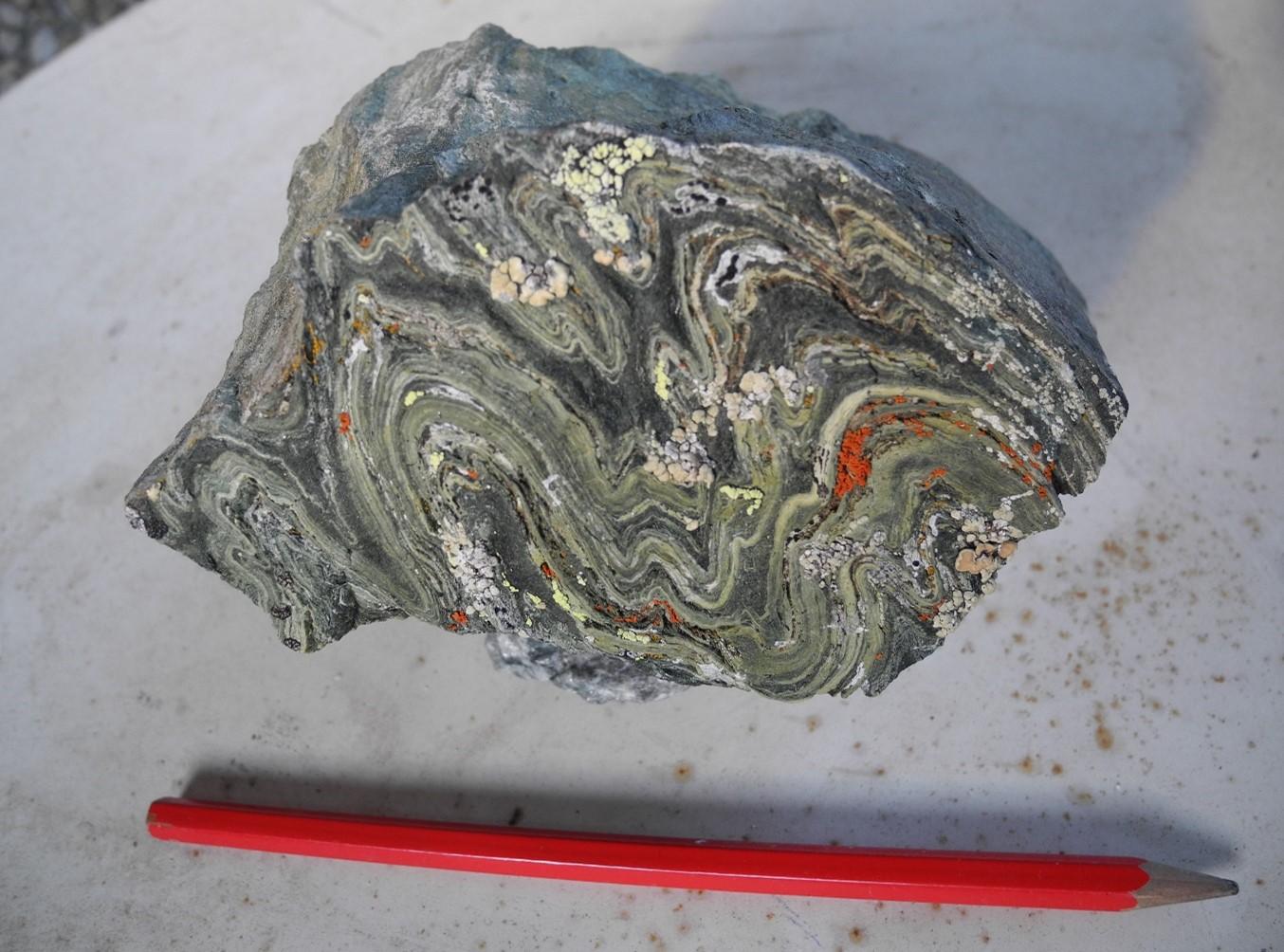 In Form von Gesteinsproben haben die Expeditionsteilnehmer ein Stück des alpinen Ozeans nach Hause gebracht