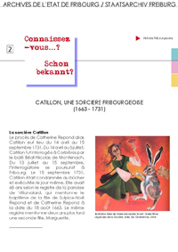 2 : Catillon, une sorcière fribourgeoise (1663-1731)