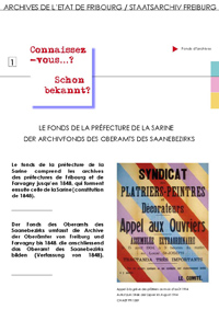 1 : Le fonds de la Préfecture de la Sarine