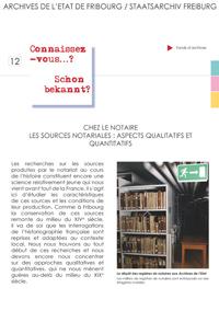 12 : Chez le notaire - Les sources notariales : aspects qualitatifs et quantitatifs