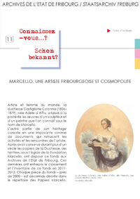 11 : Marcello une artiste fribourgeoise cosmopolite