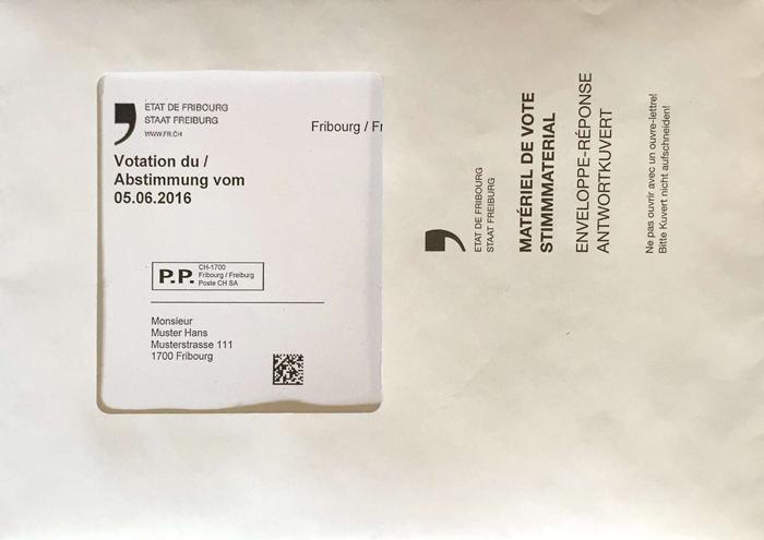 Matériel de vote: Enveloppe-réponse
