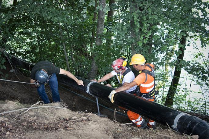 Installation der Wasseraufbereitungsanlage, Juni-August 2012