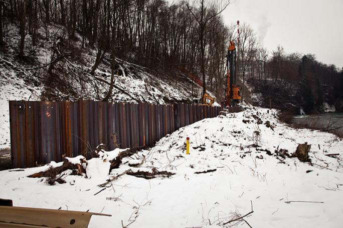 Teilsicherung der Deponie, Dezember 2012 - März 2013