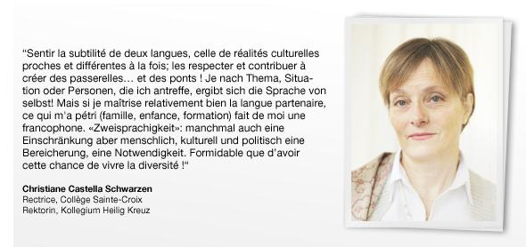 Christiane Castella Schwarzen