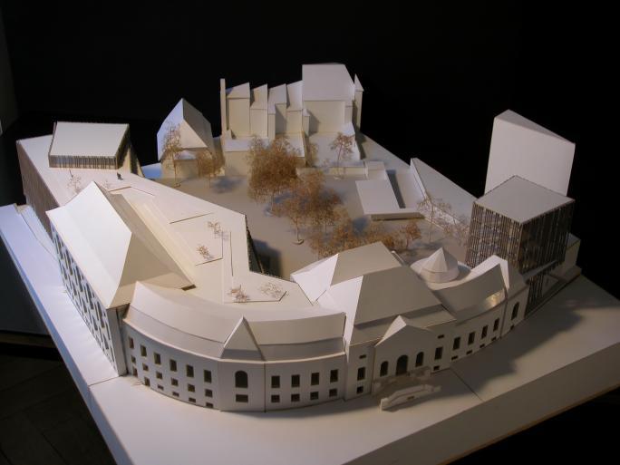 Maquette avec extension de la Bibliothèque cantonale et universitaire de Fribourg