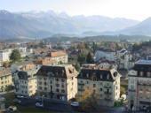 La ville de Bulle depuis le donjon du château