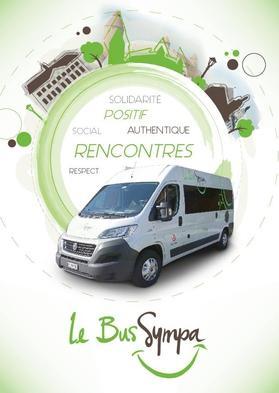 Le flyer de promotion du bus à disposition des associations locales