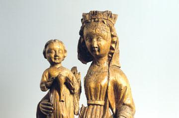 Vierge à l'Enfant de Belfaux, 1375/1400, Inconnu Bois de tilleul