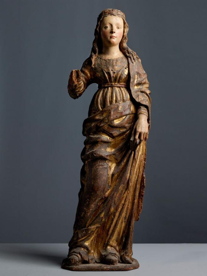 Artiste inconnu, Jeune sainte (autour de 1500)