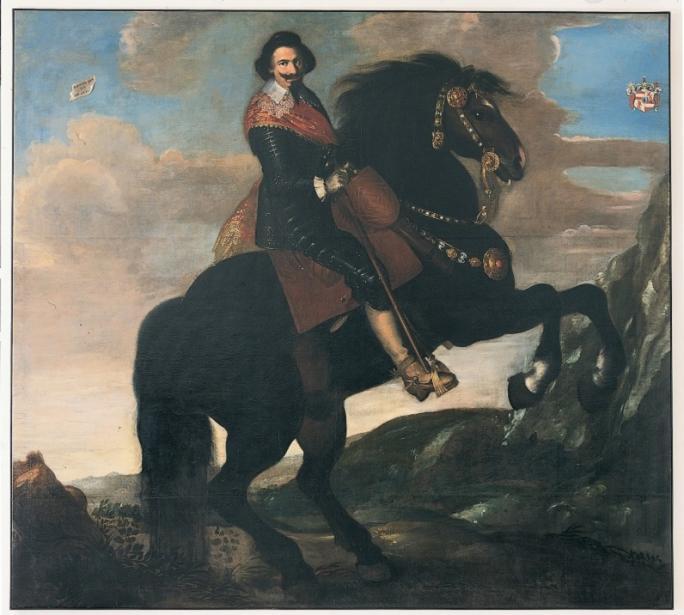 Samuel Hofmann, Portrait équestre de François-Pierre Koening, 1631
