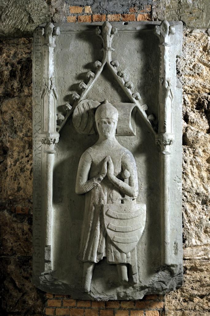 Inconnu, Dalle funéraire de Jean Düdingen, 1330/1335