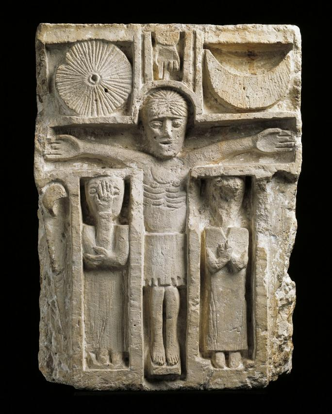 Inconnu, Crucifixion de Villars-les-Moines, vers 1050