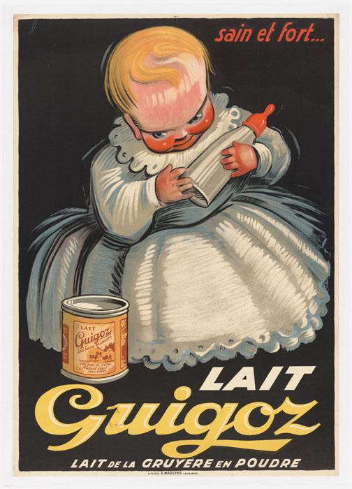 Lait Guigoz. Exposition Au lait, olé. BCU, Collection d'affiches