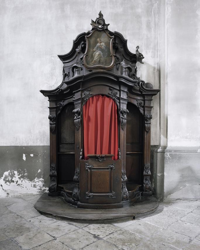 Matthieu Gafsou, Sacré (2011), Confessionnal Eglise Saint-Michel, Fribourg