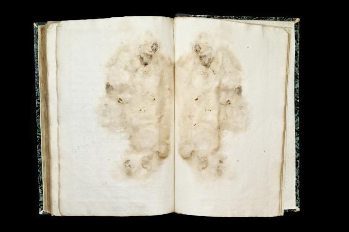 Virginie Rebetez, Malleus Maleficarum (2017), Manuskript des Prozesses gegen Claude Bergier, 1628, Staatsarchiv Freiburg