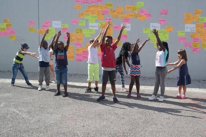Enfants au Café citoyen
