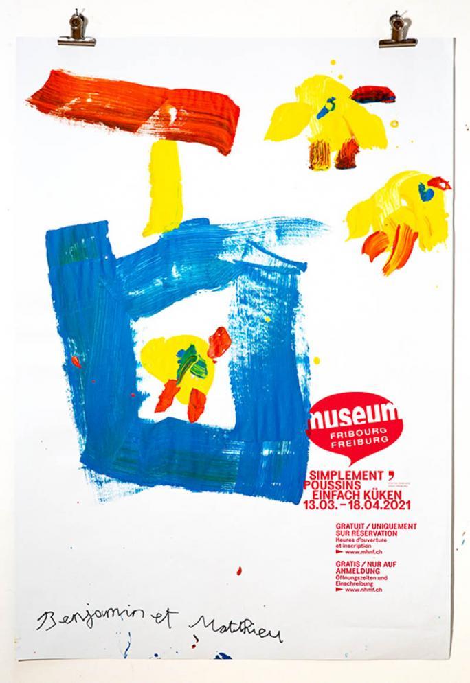 """Une des affiches de l'exposition """"Simplement Poussins""""_101"""